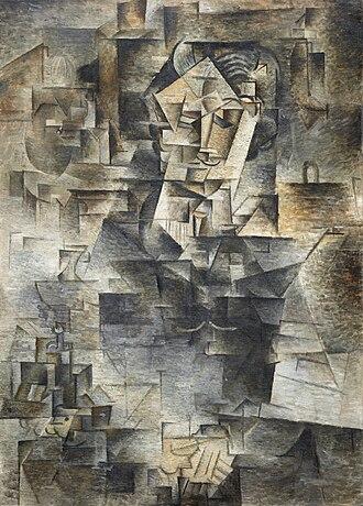 Fourth dimension in art - Pablo Picasso, 1910 Portrait of Daniel-Henry Kahnweiler, Art Institute of Chicago