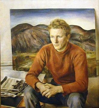 "Peter Hurd - Henriette Wyeth, ""Portrait of Peter Hurd"", 1936"