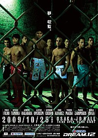 A poster or logo for Dream 12: Cage of Dreams.