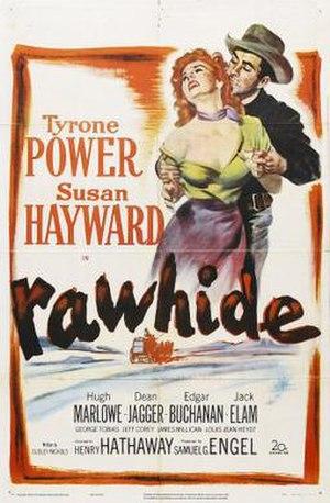 Rawhide (1951 film) - Image: Poster of Rawhide (1951 film)