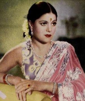 Sardar Akhtar - Still shot from the film Asra (1941)
