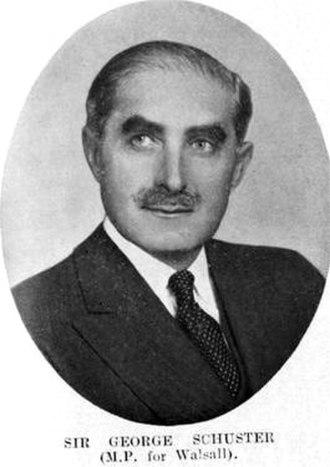 George Schuster (public servant) - Sir George Schuster