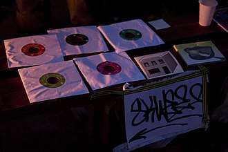 "Skweee - 7"" Skweee singles on sale at the Norberg Festival 2009 in Sweden"