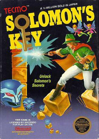 Solomon's Key - NES cover art