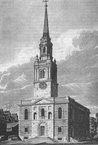 St James's Church, Clerkenwell - The new church of St James, Clerkenwell, 1806