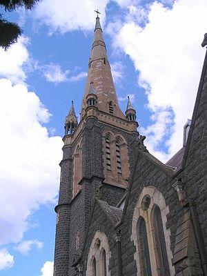 St Ignatius' Church, Richmond - The spire of St Ignatius' Church