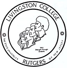 Strength Through Diversity logo of Livingston College, a former unit of Rutgers University.jpg