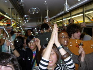 Subway party - A subway party that took place in Toronto
