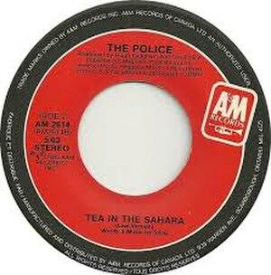 Tea in the Sahara - Image: Tea in the Sahara (live) The Police
