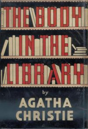 The Body in the Library - Dustjacket illustration of the UK first edition; the book was first published in the US