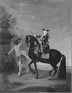 "Kingdom of Finland (1742) - ""The Empress Elizabeth of Russia (1709–1762) on Horseback, Attended by a Page."""