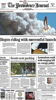 <i>The Providence Journal</i> Newspaper published in Providence, Rhode Island, United States