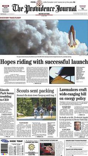 The Providence Journal - Image: The Providence Journal front page