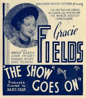 <i>The Show Goes On</i> 1937 film by Basil Dean