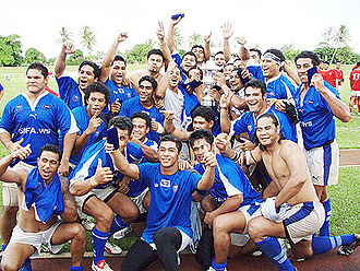 World Rugby Pacific Challenge - Upolu Samoa after winning the 2007 Pacific Rugby Cup.