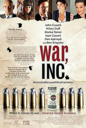 War, Inc. - Theatrical release poster