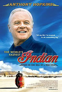 <i>The Worlds Fastest Indian</i> 2005 New Zealand biographical film directed by Roger Donaldson