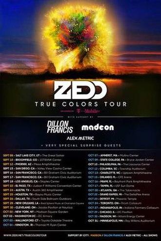 True Colors Tour - True Colors Official Poster