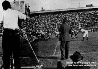 1939 Waynesburg vs. Fordham football game - Image: 1939 Waynesberg vs Fordham football game