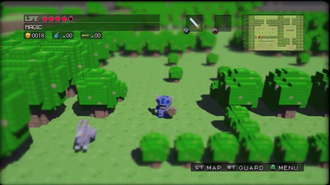 3D Dot Game Heroes - In-game screenshot of 3D Dot Game Heroes
