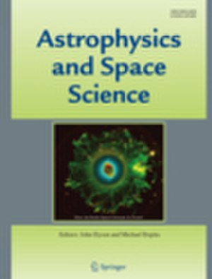 Astrophysics and Space Science - Image: APSS journal cover