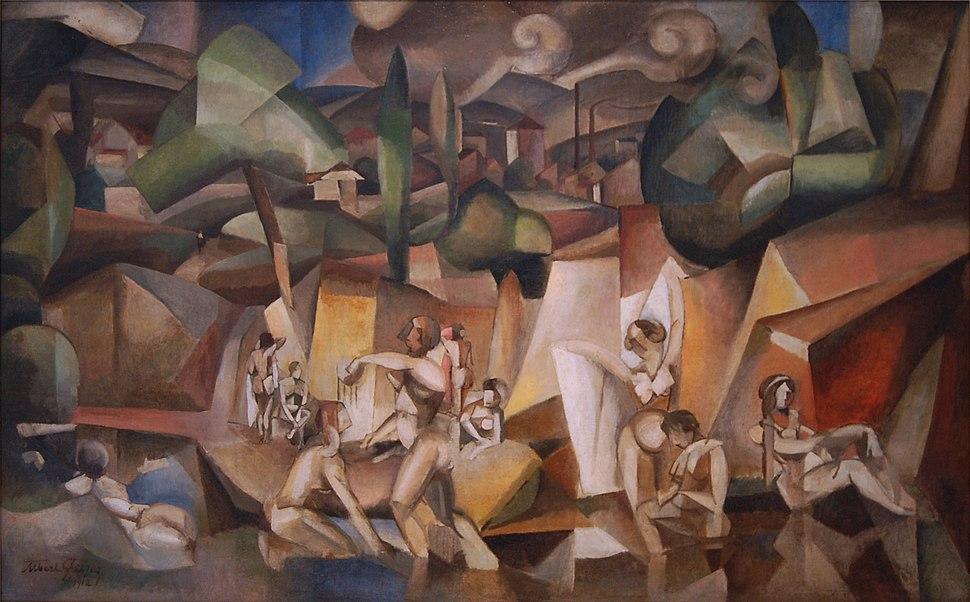 Albert Gleizes, 1912, Les Baigneuses, oil on canvas, 105 x 171 cm, Paris, Musée d'Art Moderne de la Ville de Paris