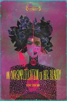DVD cover showcasing an abstract image of a woman looking straight ahead while covered in shades of purple, pink, black, and blue.
