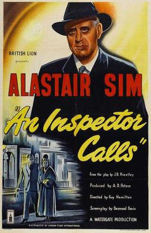 An Inspector Calls (1954 film) - Theatrical release poster