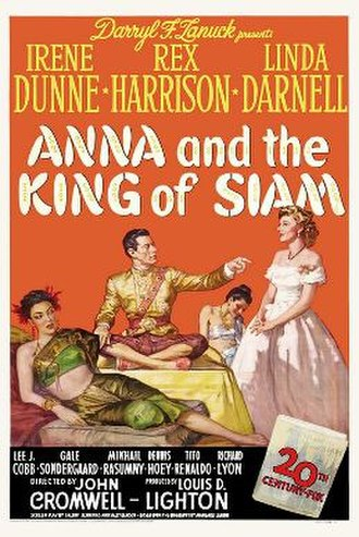 Anna and the King of Siam (film) - Original U.S. Poster