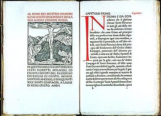 Ashendene Press - St. Francis of Assisi, I fioretti del glorioso poverello di Cristo, printed by the Ashendene Press, 1922.