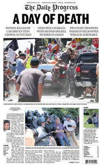 The Daily Progress - Image: Aug. 13, 2017 edition of The Daily Progress