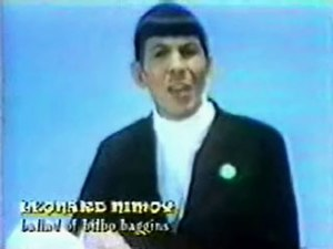 The Ballad of Bilbo Baggins - Leonard Nimoy in the music video