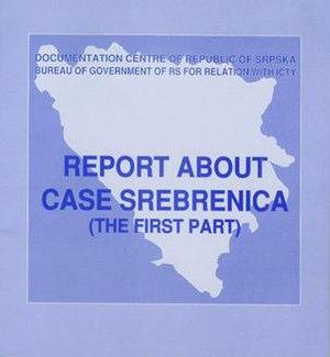 Report about Case Srebrenica - Report cover (2002)