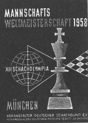 13th Chess Olympiad - The official poster of the Olympiad.