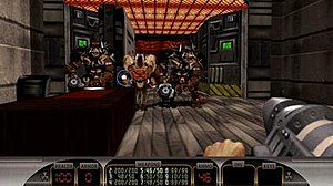 Duke Nukem 3D - Duke Nukem 3D: Megaton Edition. Note the higher-resolution HUD and OpenGL graphics.