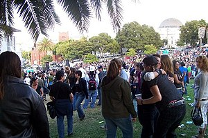 Mission Dolores Park - Dolores Park during the annual Dyke March.