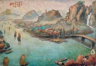 Fang Ganmin - Fang Ganmin, Scenary in Autumn, 1983, oil on canvas