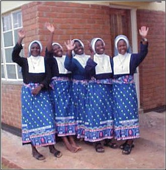 Community of St. Mary - Five of the sisters in Malawi.