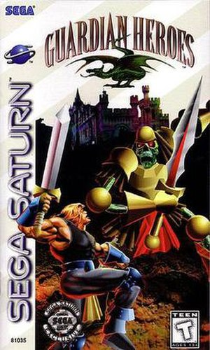 Guardian Heroes - North American Sega Saturn cover art