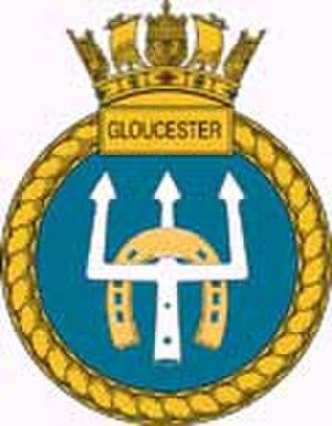 HMS Gloucester (D96) - Image: HMS Gloucester badge