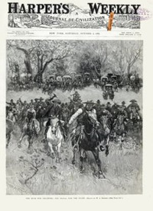 Pink, Oklahoma - Harper's Weekly October 3, 1891 The Rush for Oklahoma