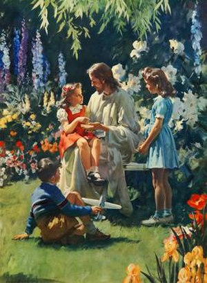 """Harry Anderson (artist) - The painting """"What Happened to Your Hand"""" became a ubiquitous print in Sunday schools and churches during the 1950s and 1960s."""