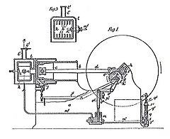 diagram of early vaporizing oil engine