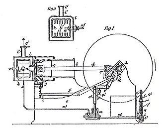 Hornsby-Akroyd oil engine - Diagram of early vaporizing oil engine