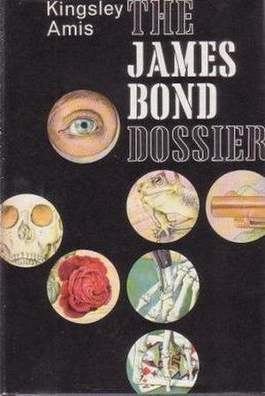 The James Bond Dossier - The first edition published by Jonathan Cape has artwork from their previous Bond books: For Your Eyes Only (top), Goldfinger (left), You Only Live Twice (centre), The Man with the Golden Gun (right), Thunderball (bottom)