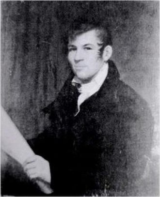 Commissioners' Plan of 1811 - The only known image of John Randel Jr., the Commission's chief surveyor, by an unknown artist, probably Ezra Ames.