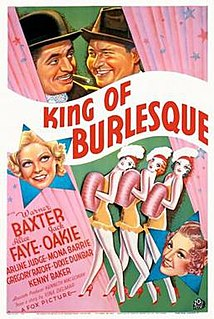 <i>King of Burlesque</i> 1936 film by Sidney Lanfield