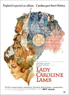 <i>Lady Caroline Lamb</i> (film) 1972 film by Robert Bolt