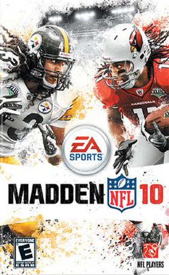 Madden NFL 10 - Cover art featuring Troy Polamalu (left) and Larry Fitzgerald