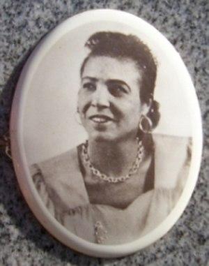 Memphis Minnie - Portrait (1940) on Minnie's grave marker